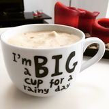 Big cup of coffee Stock Image