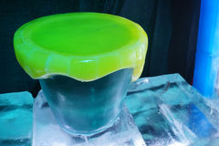 Big cup made by ice Stock Image