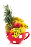 Big cup various fruit Royalty Free Stock Image