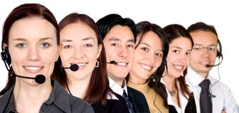 Big customer service team Stock Photography