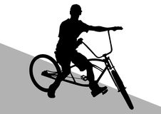 Big cyclist Stock Images