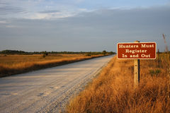 Big Cypress Hunting. The Turner River Road takes hunters deep into the Everglades, Big Cypress National Preserve Stock Photography