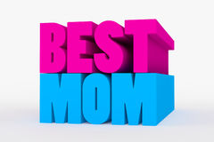 Big 3D bold text - best mom Royalty Free Stock Photography