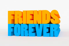 Big 3D bold text - friends forever Royalty Free Stock Photos