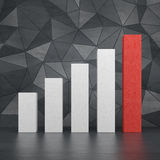Big 3d chart Royalty Free Stock Image