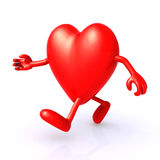 Big 3d heart running Royalty Free Stock Photos
