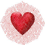 Big 3D red heart falling apart Stock Photography