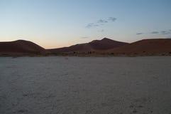 Big Daddy Dune in Dawn, Woestijnlandschap, Sossusvlei, Namibië Stock Fotografie