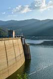 Big Dam with the mountain surrounded Royalty Free Stock Photo