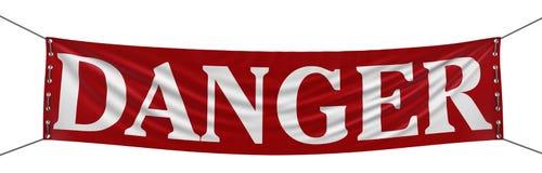 Big Danger Banner Stock Images