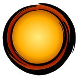 Big Dark Gold Red Circle Icon Stock Image