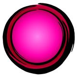 Big Dark Pink Circle Icon Enso Royalty Free Stock Images