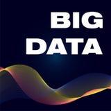 Big Data affisch med vågfärg bg vektor illustrationer