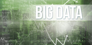 Big data against view of cityscape Royalty Free Stock Image