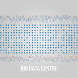 Big Data Algorithms. Analysis of Information Minimalistic Infographics Design. Science, Technology Background. Vector Royalty Free Stock Photography