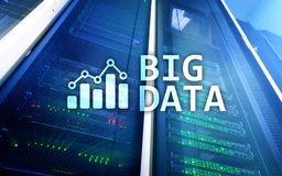 Big data analysing server. Internet and technology.  Stock Images