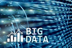 Big data analysing server. Internet and technology.  stock image