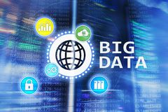Big data analysing server. Internet and technology.  royalty free stock photo
