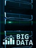 Big data analysing server. Internet and technology.  royalty free illustration