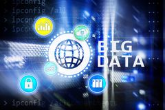 Big data analysing server. Internet and technology.  royalty free stock photos