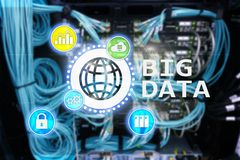 Big data analysing server. Internet and technology.  stock photography