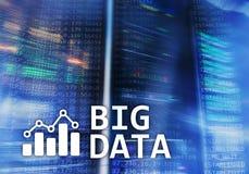 Big data analysing server. Internet and technology.  Royalty Free Stock Image