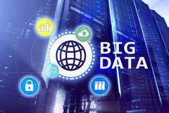 Big data analysing server. Internet and technology.  royalty free stock photography