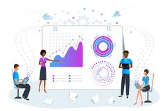 Free Big Data Analysis And Analytics Concept. Predictive Data Analysis For Business Strategy Performance. Business Team On Meeting Work Royalty Free Stock Image - 188156336