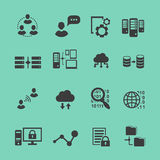 Big Data  analysis  black icons set,  data Stock Image