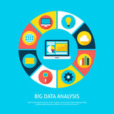 Big Data Analysis Flat Infographic Concept Stock Photo
