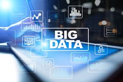 BIG DATA, Analysis and Processing tools. Business and technology concept. royalty free stock photos