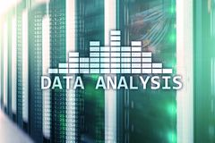 Big Data analysis text on server room background. Internet and modern technology concept. Big Data analysis text on server room background. Internet and modern royalty free stock photo
