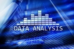 Big Data analysis text on server room background. Internet and modern technology concept.  royalty free stock photos