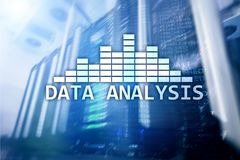 Big Data analysis text on server room background. Internet and modern tehnology concept. Big Data analysis text on server room background. Internet and modern stock photo