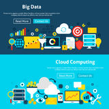 Big Data Analysis Website Banners Stock Images