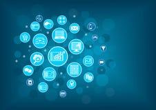 Big data analytics background concept. Royalty Free Stock Image