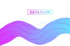 Big data analytics and business intelligence. Digital analytics concept with graph and charts. Financial schedule. Infographic. Vector illustration Stock Photography