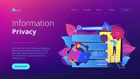 Big data applicationsconcept landing page. royalty free stock photos