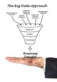 The Big Data Approach. Presenting diagram of Big Data Approach Royalty Free Stock Photos
