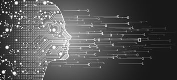 Big data and artificial intelligence concept. Royalty Free Stock Photos