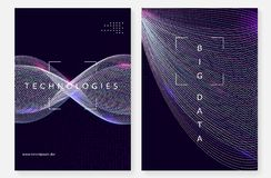 Big data background. Technology for visualization, artificial in royalty free stock images