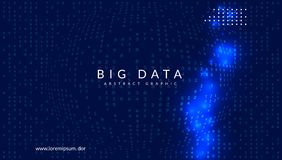 Big data background. Technology for visualization, artificial in stock photos
