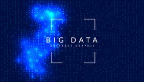 Big data background. Technology for visualization, artificial in. Telligence, deep learning and quantum computing. Design template for cloud concept. Modern big stock illustration