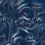 Big data background vector illustration. Information streams. Future technology royalty free illustration