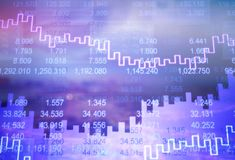 Big data. Fin tech abstract background bank building business Stock Images