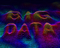 Big data. Binary code background Royalty Free Stock Images