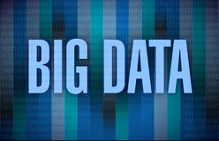Big data binary illustration design Royalty Free Stock Photo
