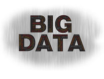 Big data black Royalty Free Stock Photos