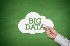Big data on blackboard Royalty Free Stock Photos