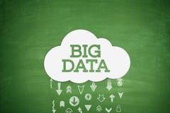 Big data on blackboard Stock Photo